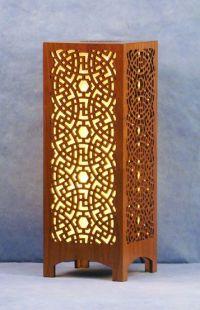 Decorative Laser Cut Wood Accent Lamp | Modern Nomad ...