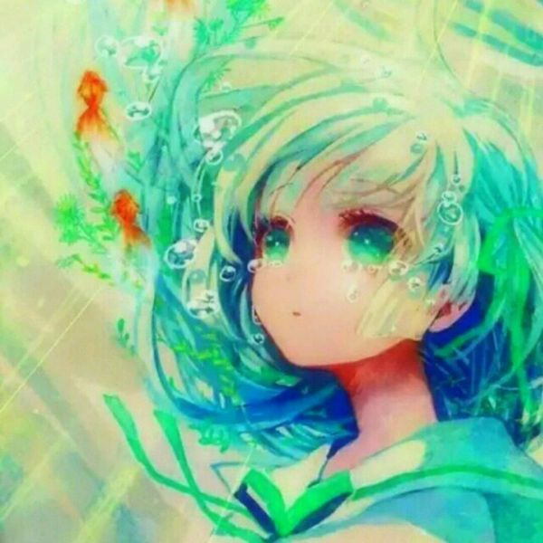 anime girl drowning in water AnimeGirl Pinterest