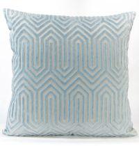 Porcelain Blue Velvet Euro Sham - Light Blue Eileen K ...