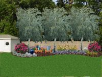 Landscaping against a privacy fence | Yardcrasher ...