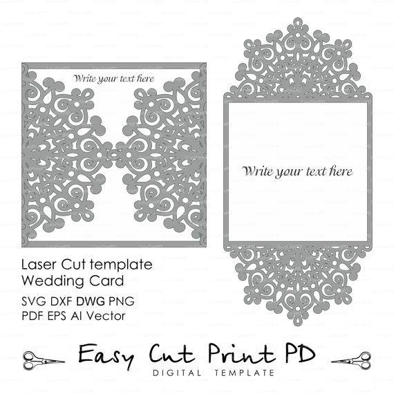 Doily Laser Cut Wedding Invitation