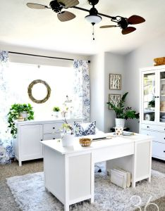 Home office decor this room went from dining to so pretty also rh pinterest