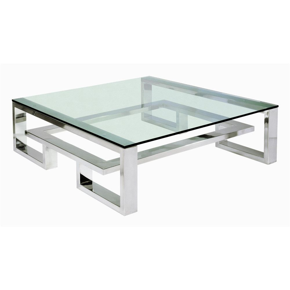 Brooklyn Coffee Table in Stainless Steel from Villiers