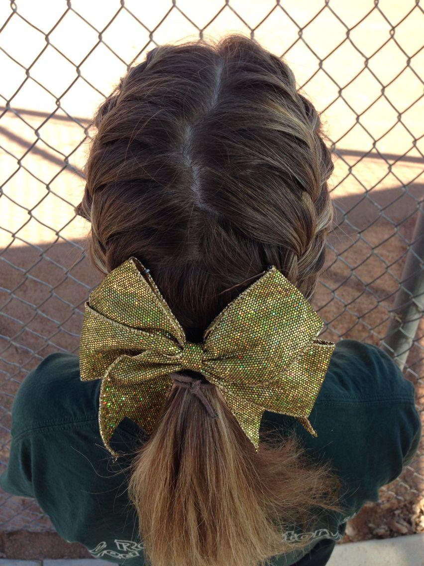 Softball Game Day Hairstyle Softball Hairstyles Pinterest