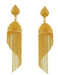 22K Gold Jhumkas | 22k Gold fancy Jhumka Earring for ...