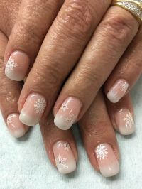 Natural Pink Ombr Babyboomer French Stamped Snowflake Gel ...