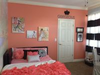 Kayton Coral Accent wall. Girls bedroom. Fashion, black ...