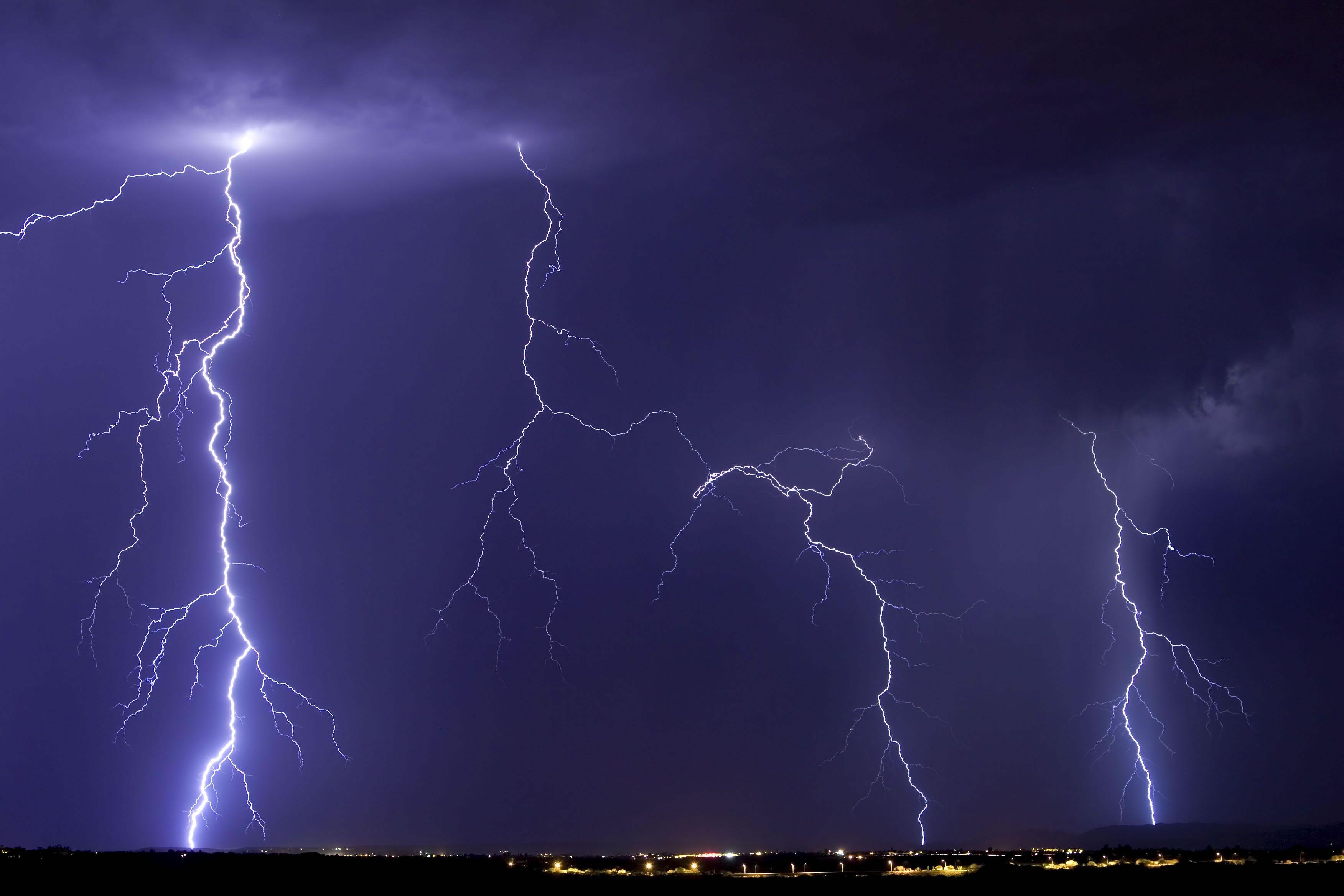 Dark Night Lightning  Lightning Storm  Photoshop Contest