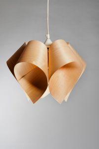 Pendent Lamp - Ceiling Light - Wooden Lamp - Flower light ...