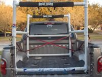 Homemade PVC kayak rack for pickup bed | Kayaks ...