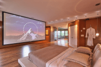 Style Sleuthing Sunday | Big screen tv, Screens and Bedrooms