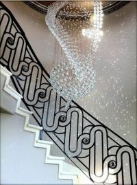 wrought iron stair railing ideas, luxury classic staircase ...