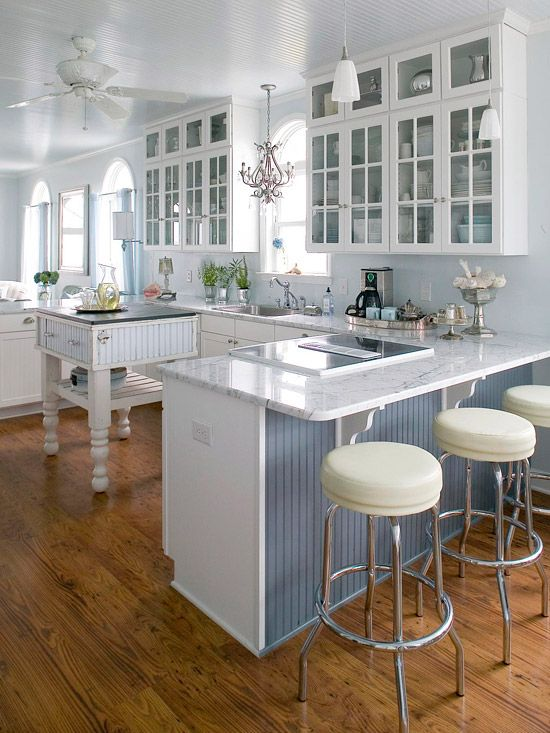 Cottage Kitchen Design Ideas Glasses Cabinets And Bar