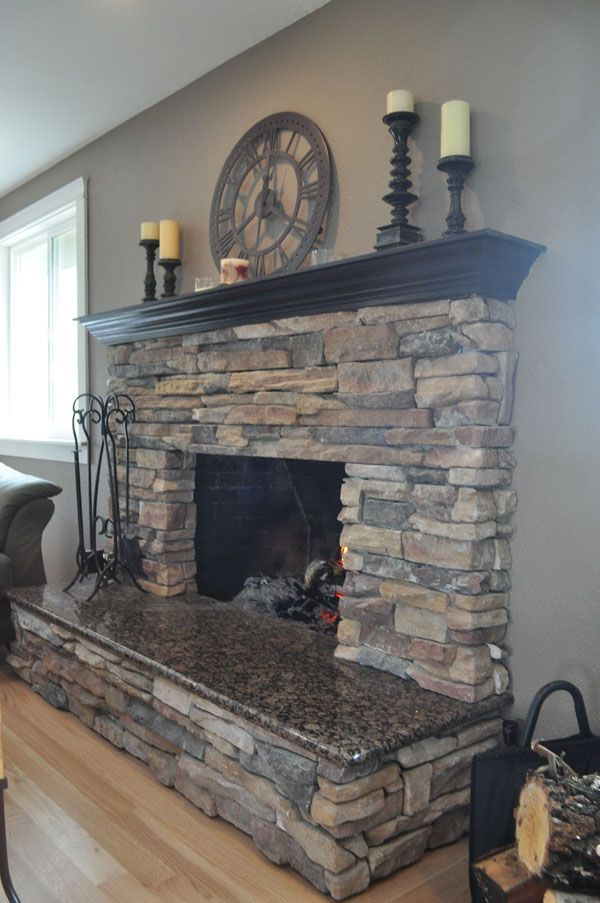 Natural Wood Mantels For Fireplaces Best 25+ Stone Fireplace Mantel Ideas On Pinterest | Stone