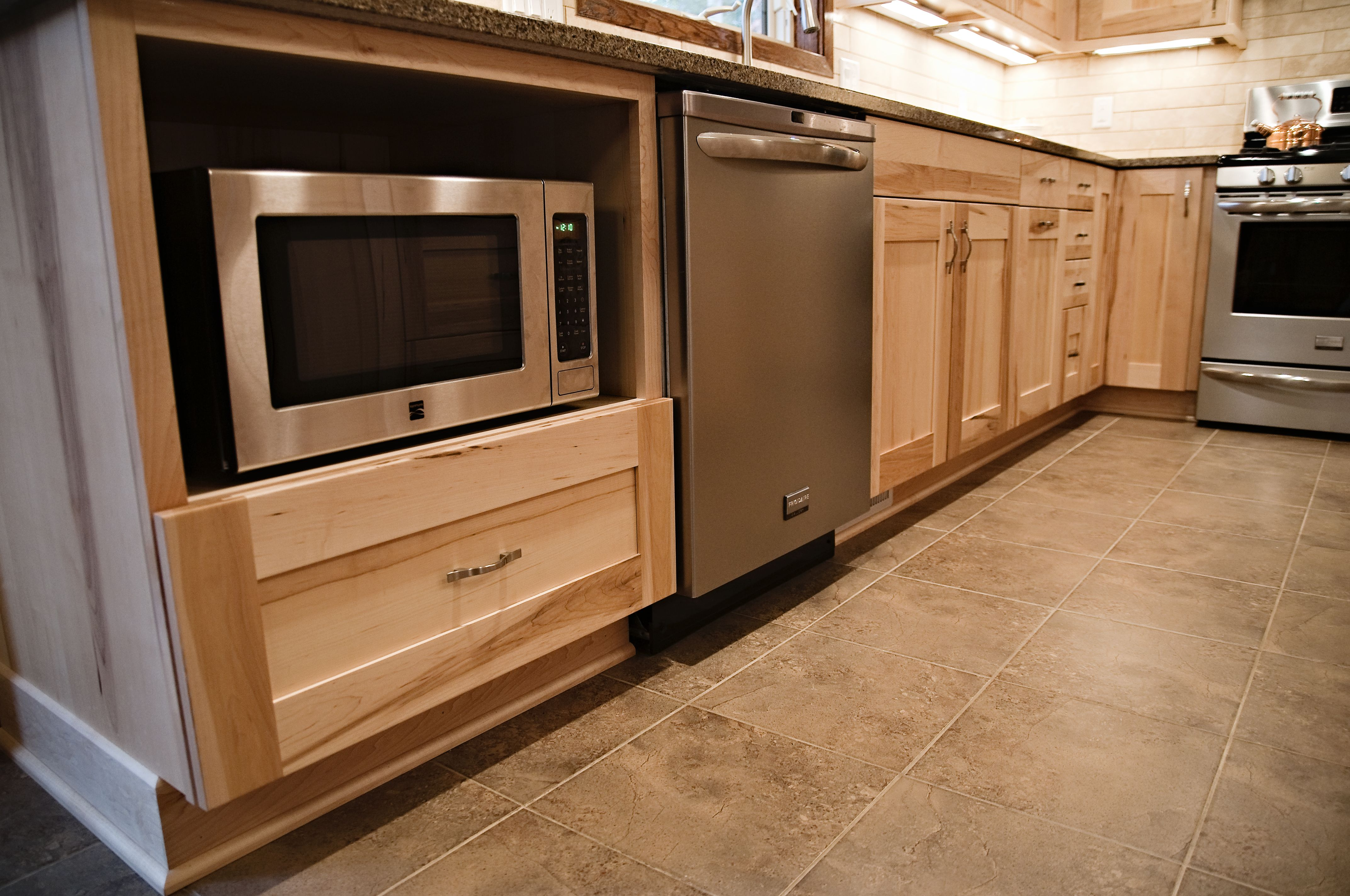 Microwave in Base Cabinet  Kitchens Design By Cella