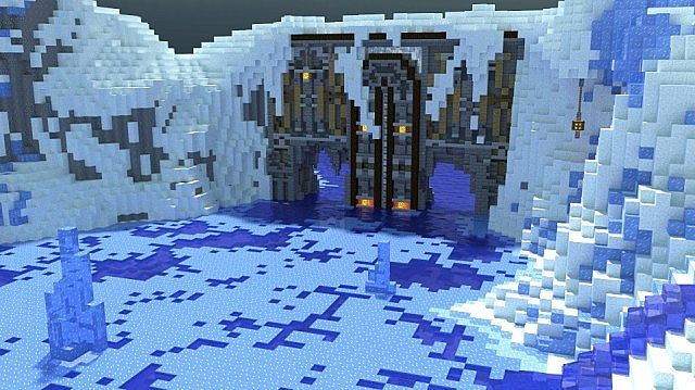 Winter's Secret Village Minecraft Building Ideas Pinterest
