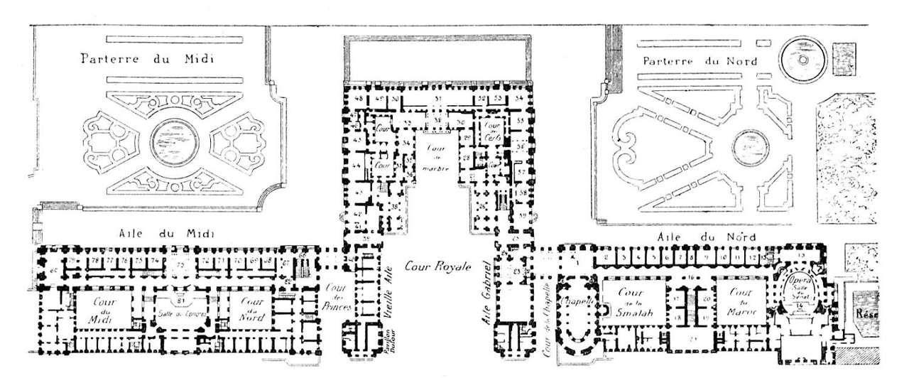 Chateau De Versailles Plan  Arts Et Voyages
