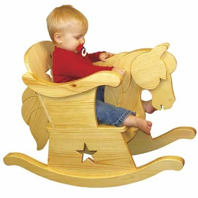 WOODEN Rocking Horse PATTERN  plan infant rocking horse