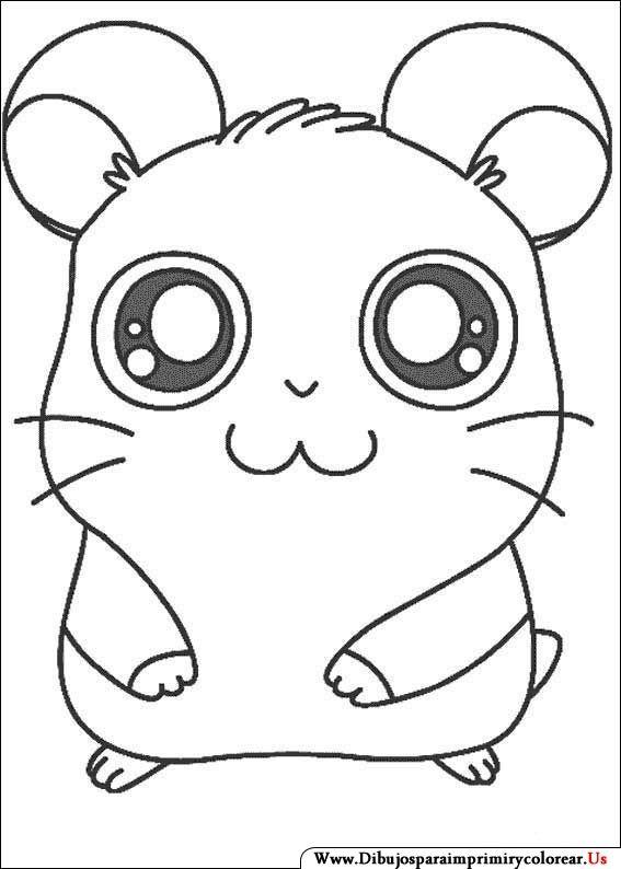 Dibujos de Hamtaro para Imprimir y Colorear