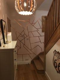 Copper slug tape on walls!! | Inside | Pinterest | Walls ...