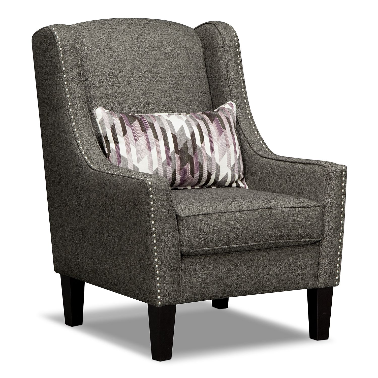 occasional living room chairs upholstered rocking for nursery ritz 2 pc w accent chair american signature