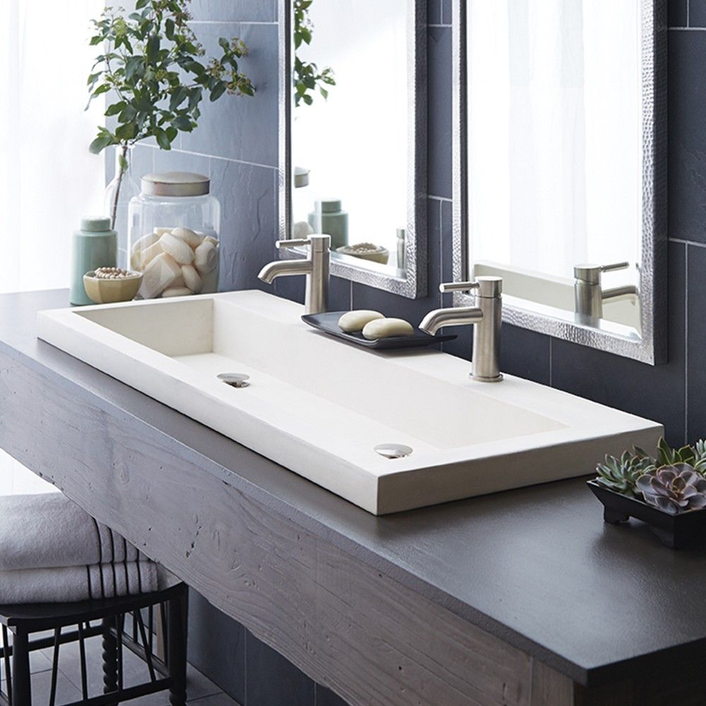Trough 4819 Bathroom Sink in NativeStone Great