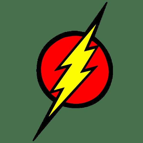 Flash Superhero Logo Clip Art