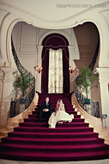 Rosecliff Mansion Staircase Bride