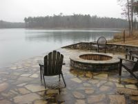 Lakeside patio & firepit (side of dock) | Upstate NY House ...