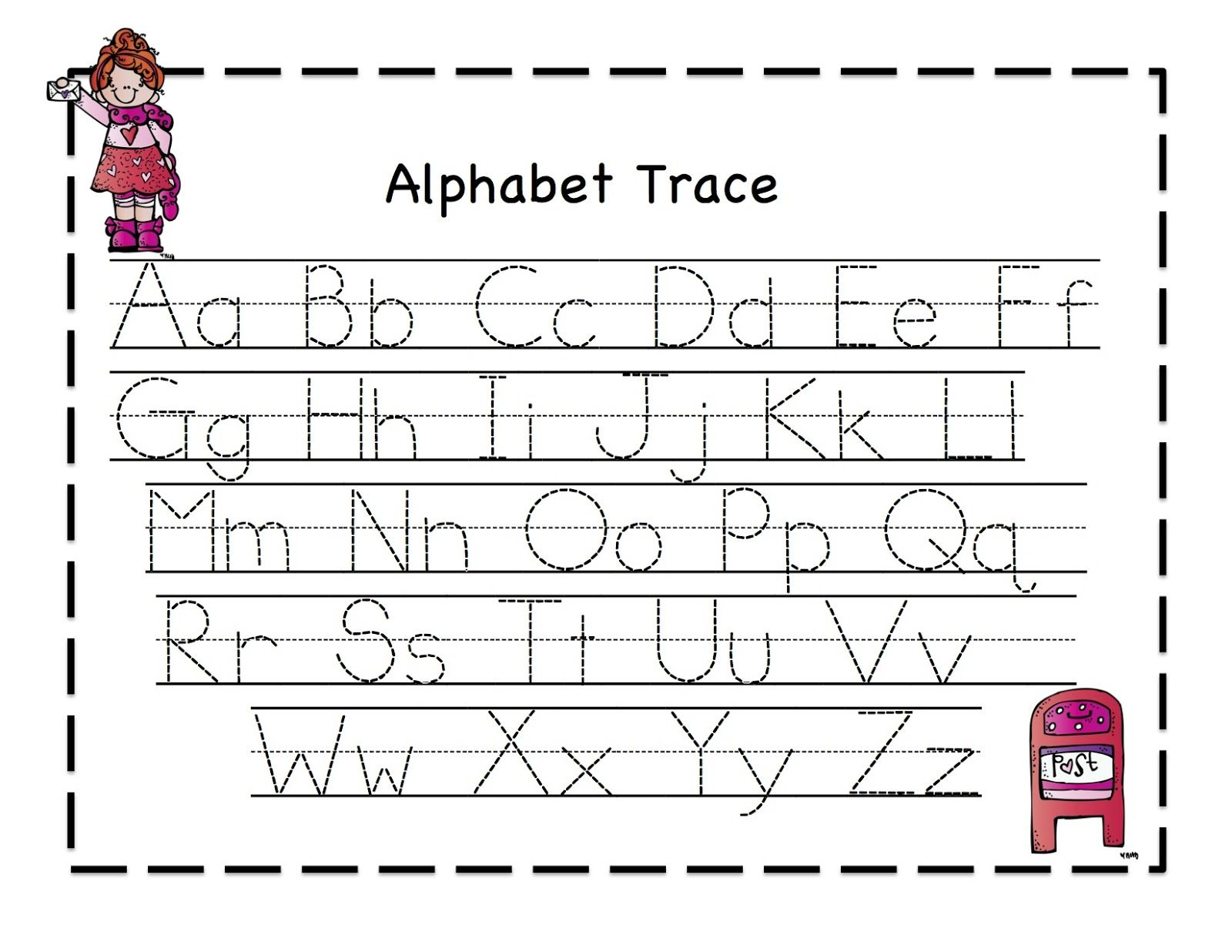 January Preschool Tracing Worksheet