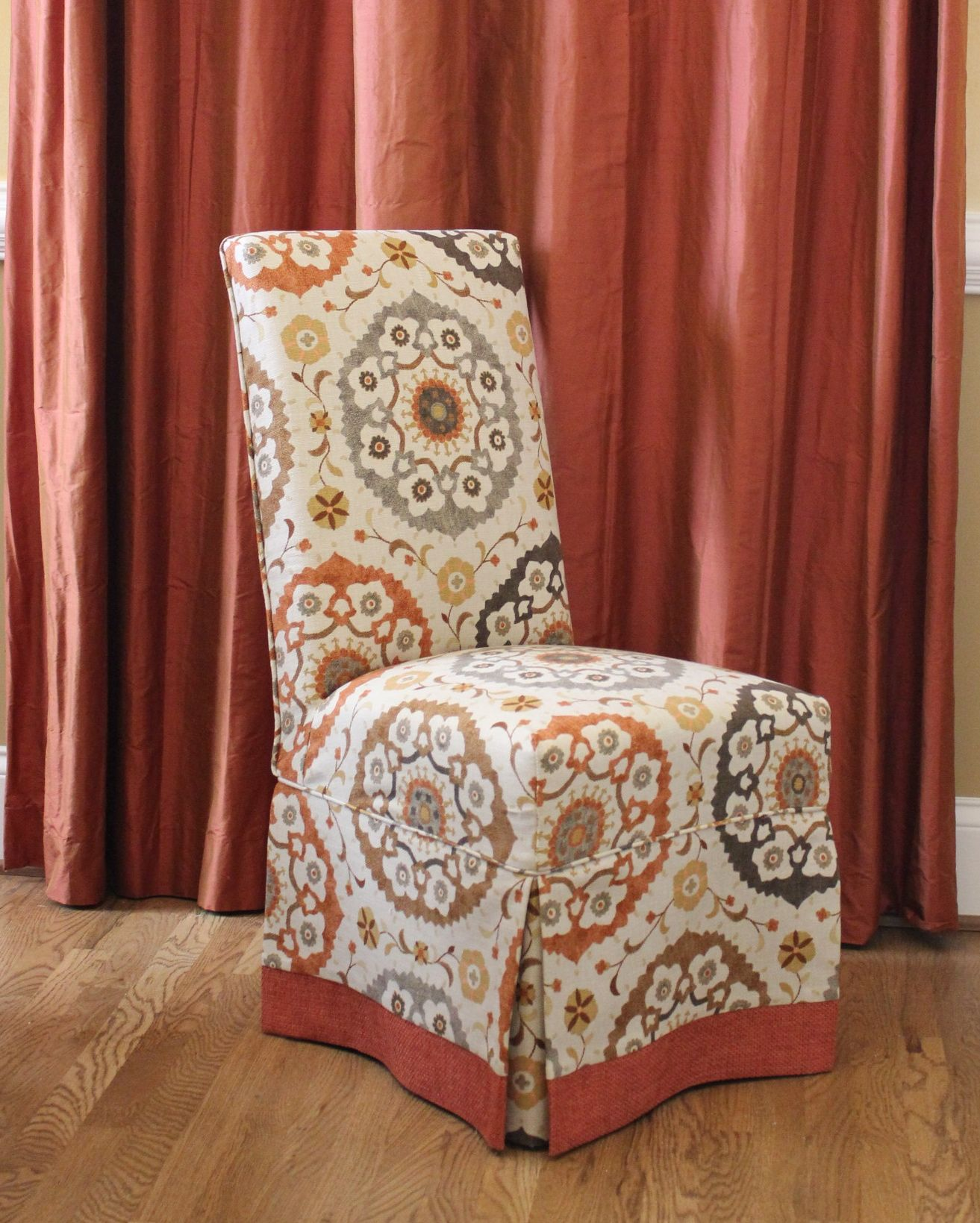 Covers For Chairs Parson Chair Slipcovers With Contrast Banding Design By