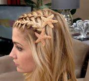 waterfall braided bangs with starfish