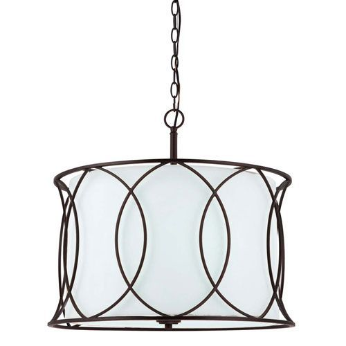 Canarm Monica Oil Rubbed Bronze Three Light Chandelier