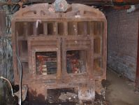 Do you BELIEVE this old furnace?! It used to heat a