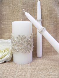 Wedding Candle Set,Crystals wedding unity candle,Wedding ...