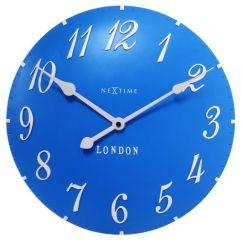Blue Kitchen Wall Clocks Cabinet Stain Nextime London Clock Accessories