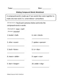 Making Compound Words Worksheet Part 1 Beginner