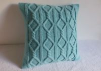 Cable Knit Pillow Cover Aqua, Turquoise Knit Throw Pillow ...