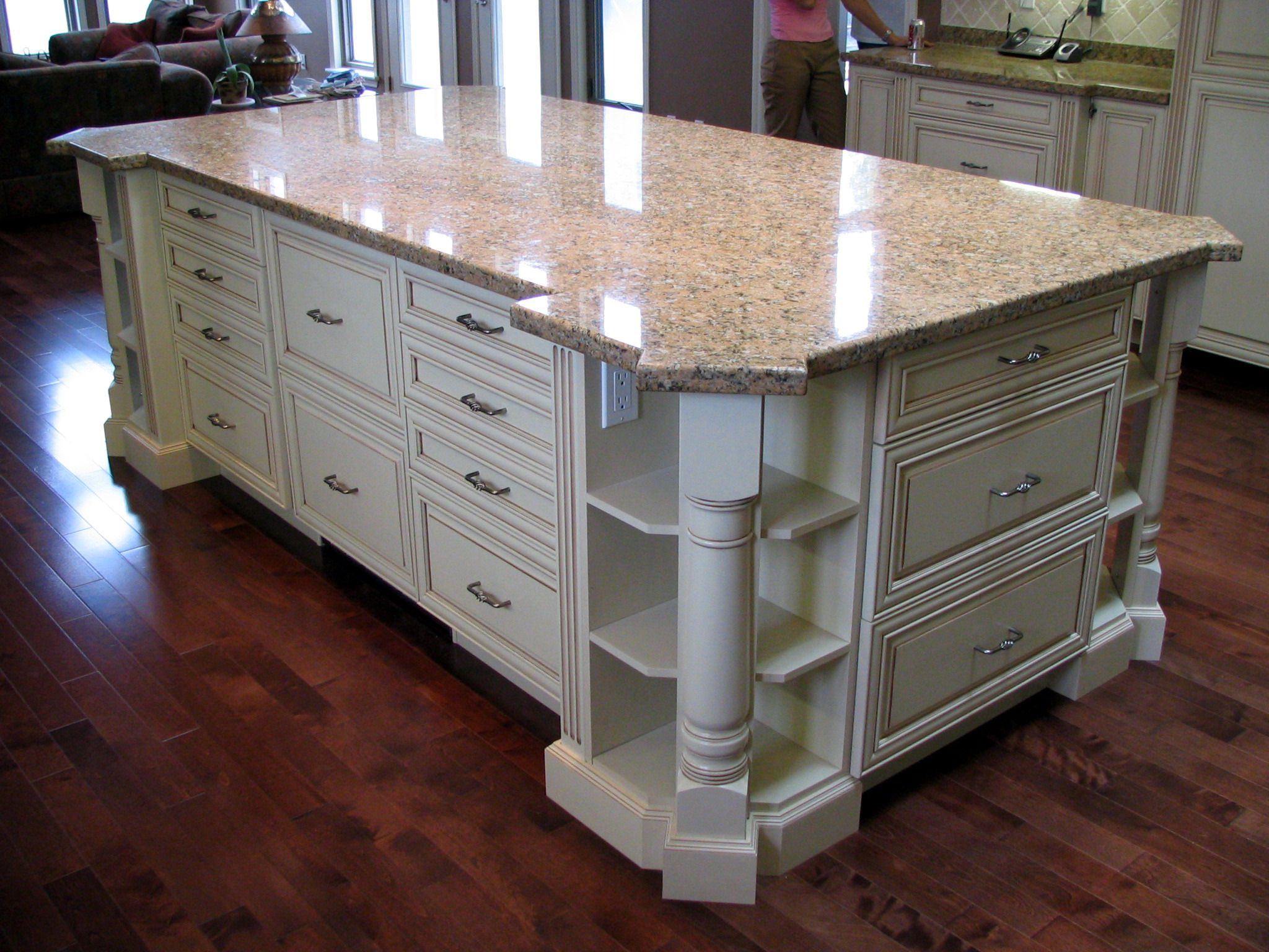 kitchen island outlet glass backsplashes for kitchens large featuring open corner shelves with