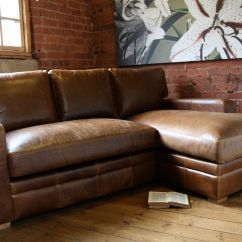 Light Brown Leather Reclining Sofa Side Snack Table Living Room Furniture Corner L Shaped Top