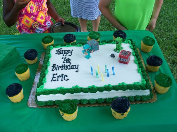 Minecraft Birthday Cake Kroger