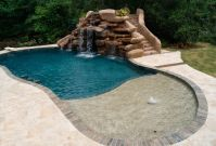swimming pools with slides and waterfalls | Houston Pool ...