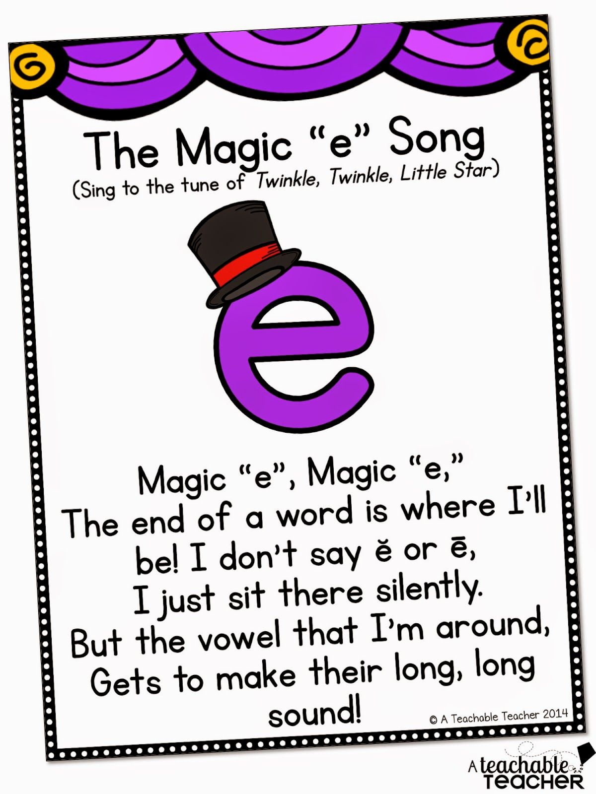 A Cute Song For Teaching Cvce With Magic E