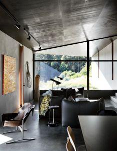 Living room with arne jacobsen aj floor lamp le bambole sofa in home designed by also rh pinterest