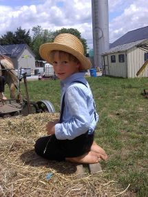 Little Amish Boy Barefoot
