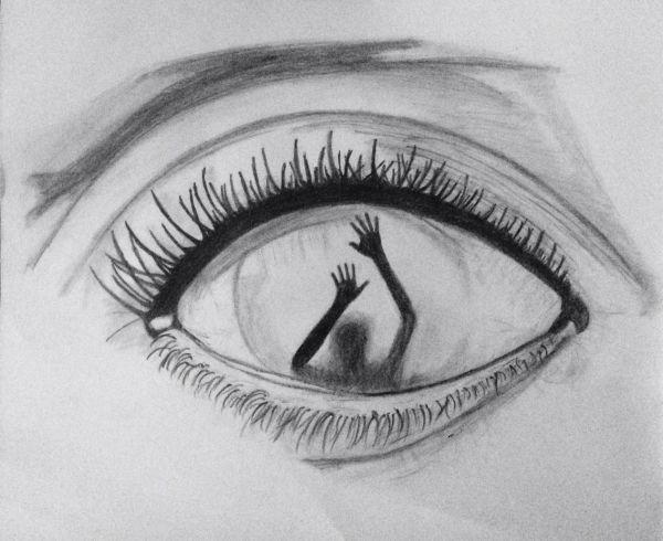 Drawing Eye Dark Drawings Eyes