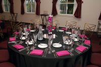 Pink and Black table setting. | Teen girl party ...