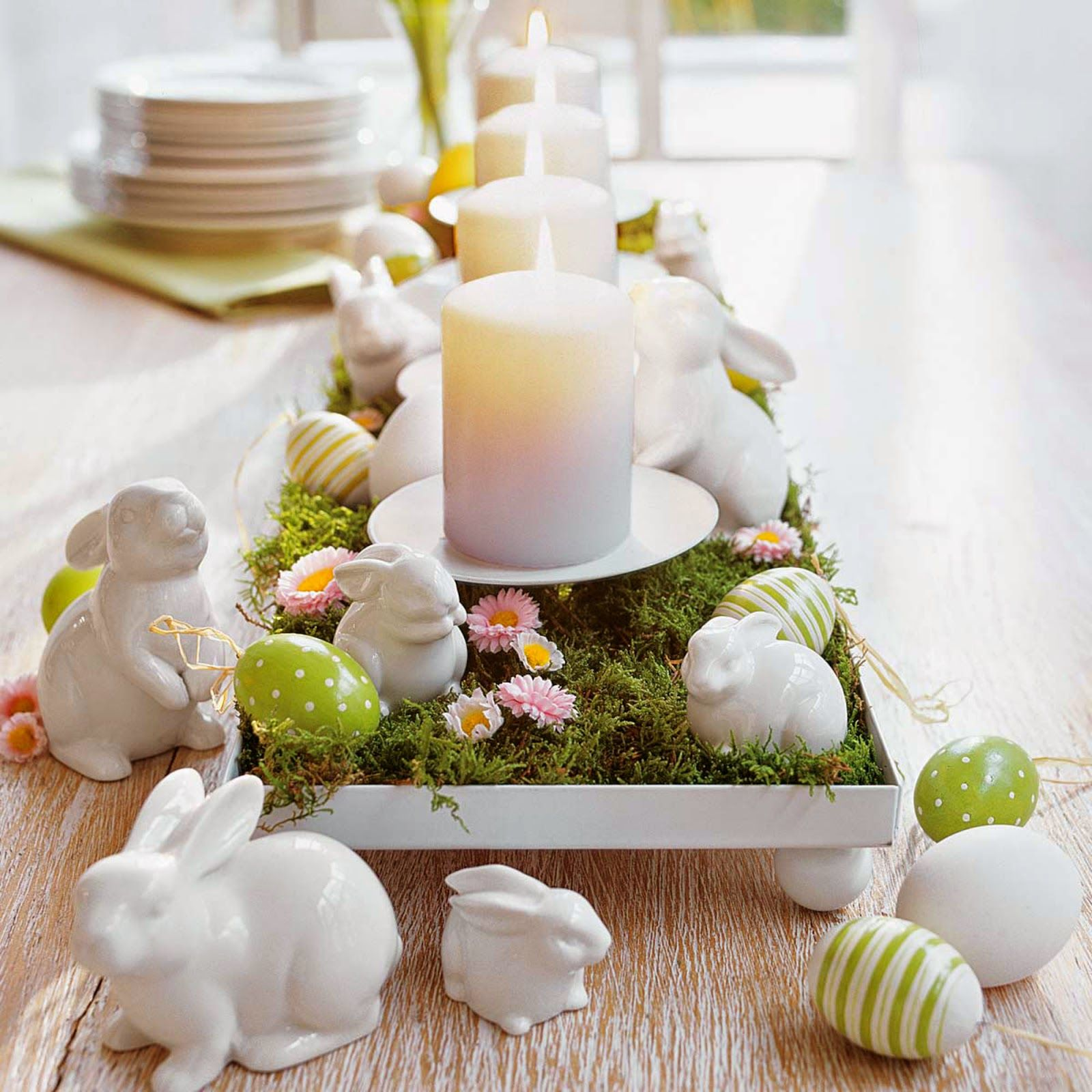 easter table decorations candles easy easter table decorations with small flowers decor and big candles