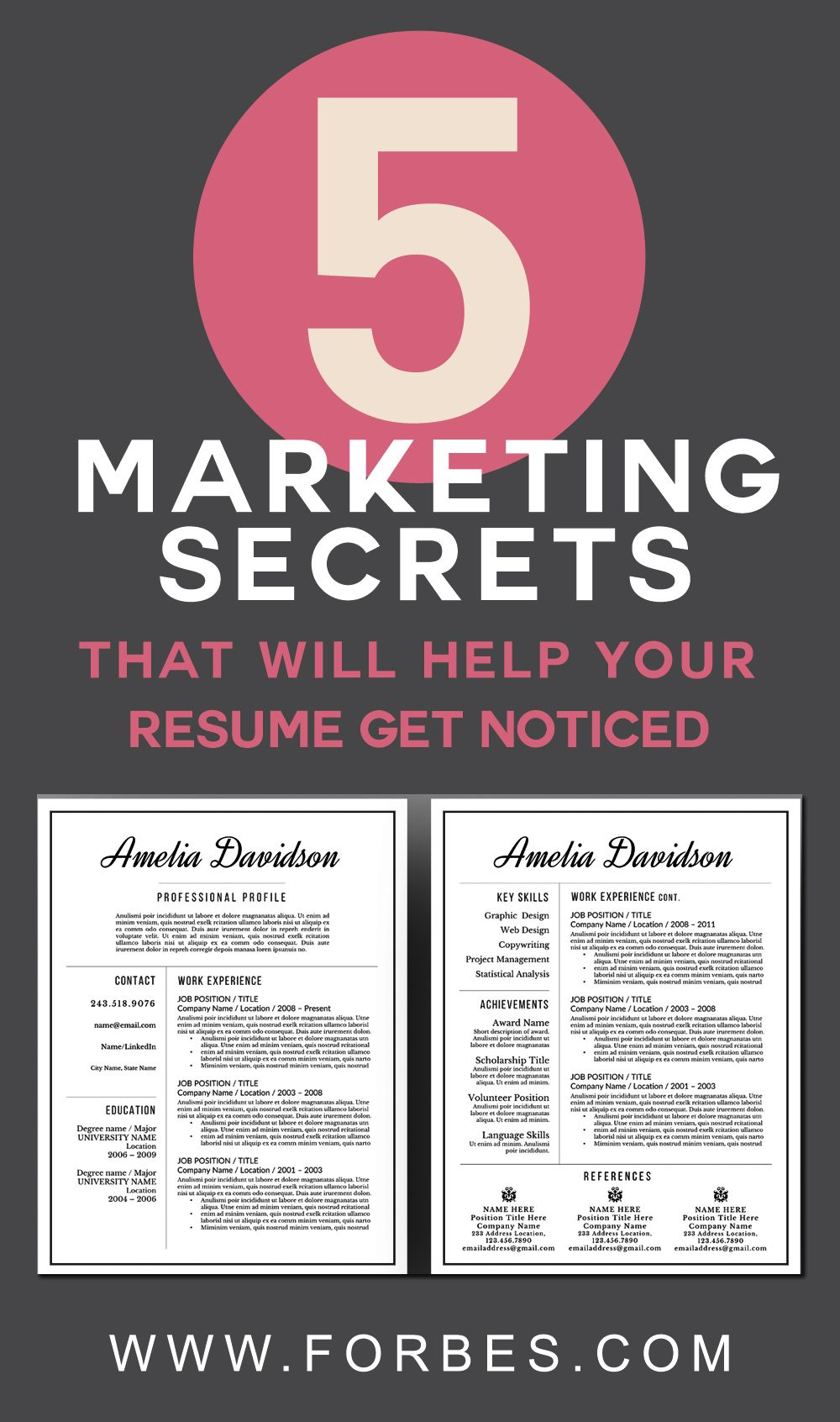 5 Marketing Secrets That Will Help Your Resume Get Noticed The