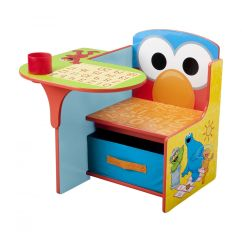 Elmo Table And Chairs Replacement Cushions For Rattan Sesame Street Friends Desk Chair With Storage